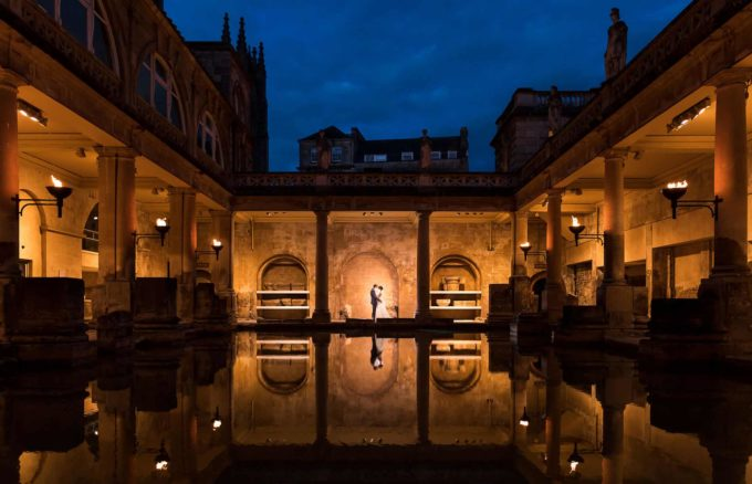 Wedding-Photographer-Birmingham-Destination-Weddings-by-Philip-James-Photography-Luxury-West-Midlands-Wedding-Photographer - Roman Baths